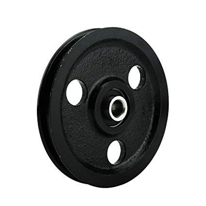 Garage door cast iron pulley